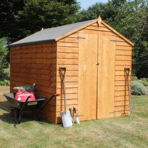Mercia Garden Products Mercia 8 x 6ft Overlap Double Door Apex Garden Shed Wood