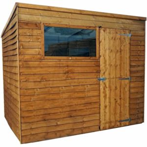 Mercia Garden Products Mercia 8 x 6ft Overlap Pent Garden Shed Wood