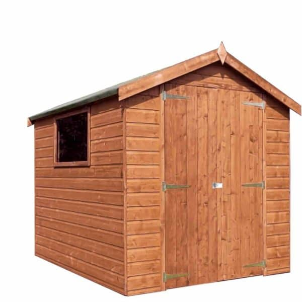 Mercia Garden Products Mercia 8 x 6ft Premium Pressure Treated Shiplap Apex Garden Shed Wood