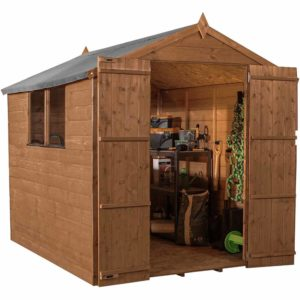Mercia Garden Products Mercia 8 x 6ft Pressure Treated Shiplap Apex Garden Shed Wood