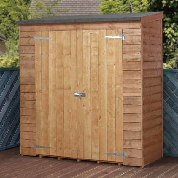 Mercia Garden Products Mercia Overlap Pent Tool Storage Shed Wood