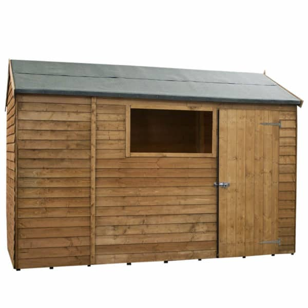 Mercia (Installation Included) 10x6ft Overlap Reverse Apex Shed