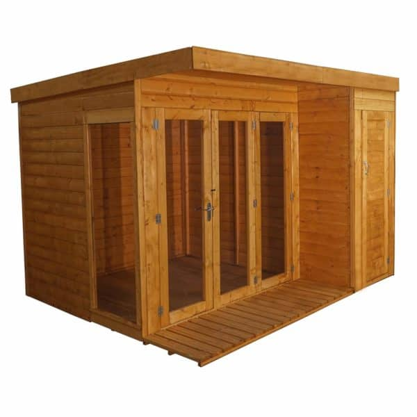 Mercia (Installation Included) 10x8ft Garden Room with Side Shed