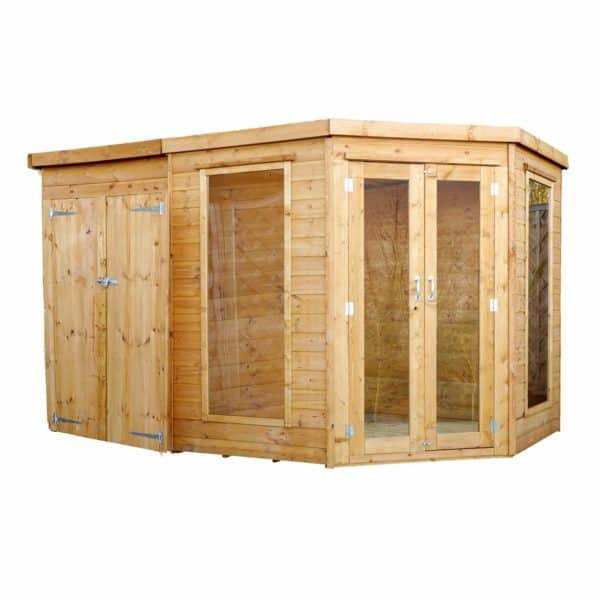 Mercia (Installation Included) 11x7ft Summerhouse with Side Shed