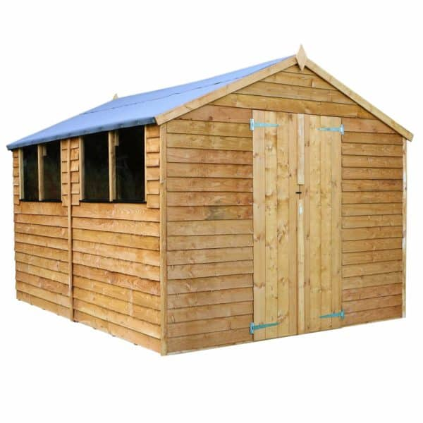 Mercia (Installation Included) 12x8ft Overlap Apex Shed