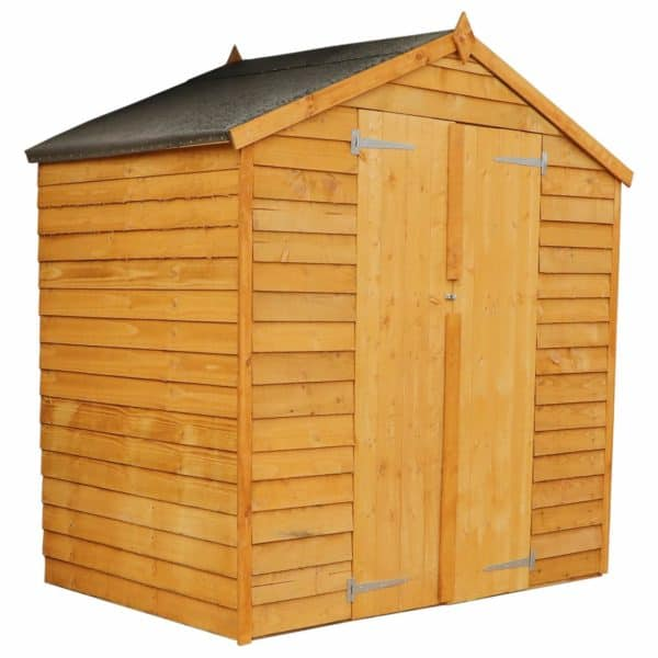 Mercia (Installation Included) 4x6ft Overlap Apex Windowless Shed