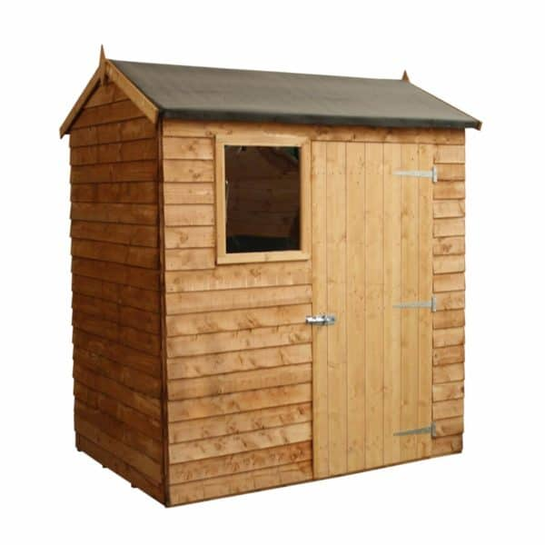 Mercia (Installation Included) 6x4ft Overlap Reverse Apex Shed