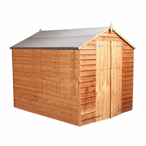 Mercia (Installation Included) 8x6ft Overlap Apex Windowless Shed