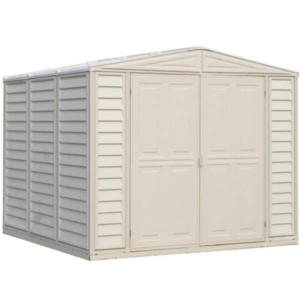 Saffron Vinyl Shed 8x8ft - with Foundation Kit