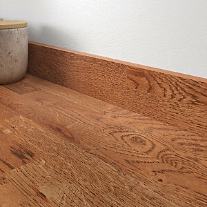 18mm Rustic Oak Smoked Brown Oil Upstand 70mm x 3m