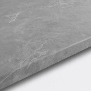 22mm Algiata Matt Grey Marble effect Chipboard & laminate Round edge Kitchen Worktop (L)3000mm