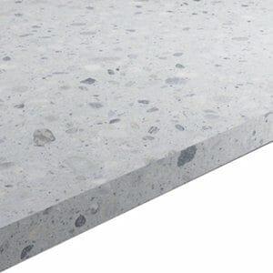 22mm Algiata Matt Grey Stone effect Chipboard & laminate Square edge Kitchen Worktop (L)3000mm