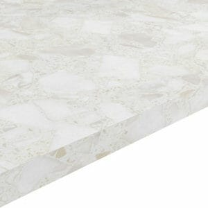 22mm Algiata Matt Marble effect Chipboard & laminate Square edge Kitchen Worktop (L)3000mm