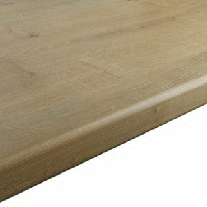 28mm Matt Brown Oak effect Laminate & particle board Post-formed Kitchen Worktop (L)2400mm
