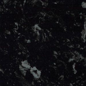 38mm Ebony Satin Black Granite effect Kitchen Curved island Worktop (L)1740mm