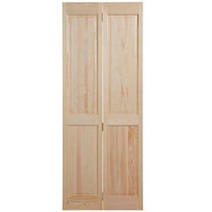 4 panel Clear pine Internal Bi-fold Door set (H)1945mm (W)675mm