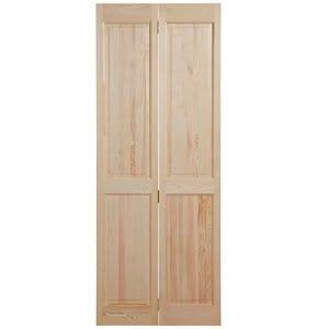 4 panel Clear pine Internal Bi-fold Door set (H)1946mm (W)750mm