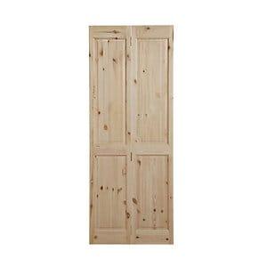 4 panel Knotty pine Internal Bi-fold Door set (H)1946mm (W)750mm