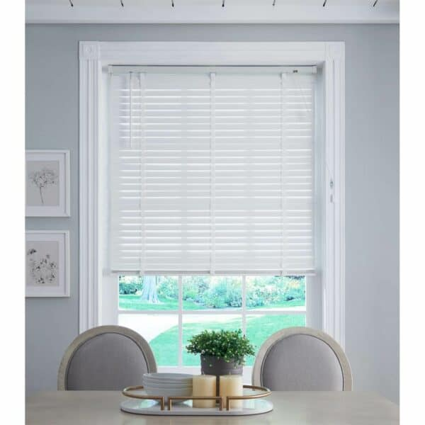 50mm Wood Venetian Blind - White - 170x160cm
