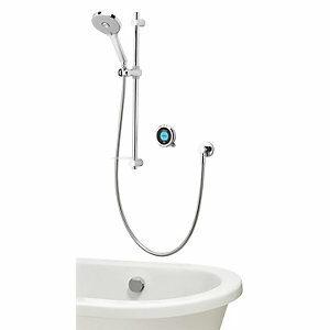 Aqualisa Optic Q Smart Divert Concealed Gravity Pumped Shower with Bath Filler & Adjustable Head