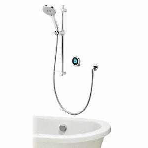 Aqualisa Optic Q Smart Divert Concealed High Pressure Shower with Bath Filler & Adjustable Head