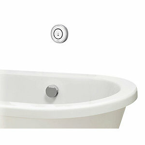 Aqualisa Unity Q Gravity Pumped Smart Bath Mixer with Overflow Filler