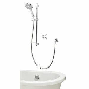 Aqualisa Unity Q Smart Concealed High Pressure Combi Shower with Adjustable Shower Head & Bath Filler
