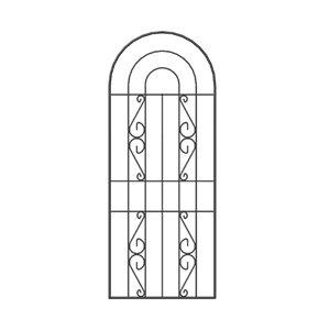 Arched Trellis panel (W)0.6m (H)1.5m
