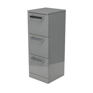 Ardenno Gloss Grey Non-mirrored Cabinet (W)302mm