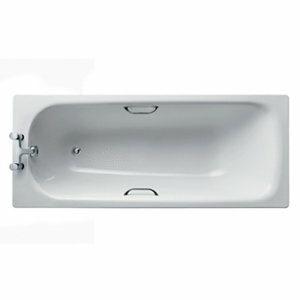 Armitage Shanks Simplicity Porcelain enamelled steel Rectangular Bath (L)1700mm (W)700mm