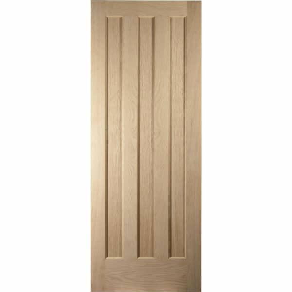 Aston 3 Panel White Oak Veneer Internal Fire Door - 686mm Wide