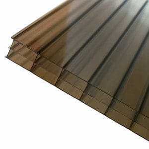 Axiome Bronze effect Polycarbonate Multiwall Roofing sheet (L)4m (W)690mm (T)16mm