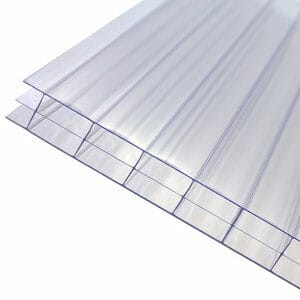 Axiome Clear Polycarbonate Multiwall Roofing sheet (L)2m (W)690mm (T)16mm