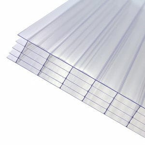 Axiome Clear Polycarbonate Multiwall Roofing sheet (L)3m (W)690mm (T)25mm
