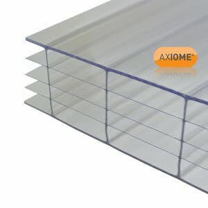 Axiome Clear Polycarbonate Multiwall Roofing sheet (L)5m (W)690mm (T)25mm
