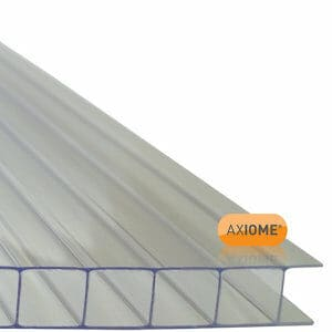 Axiome Clear Polycarbonate Twinwall Roofing sheet (L)4m (W)690mm (T)10mm