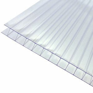 Axiome Clear Polycarbonate Twinwall Roofing sheet (L)5m (W)690mm (T)10mm