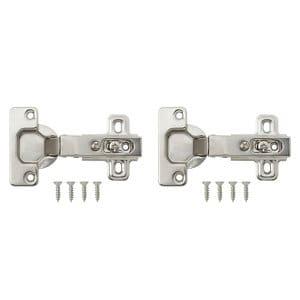 B&Q Nickel-plated Metal Sprung Concealed hinge (L)35mm Pack of 2