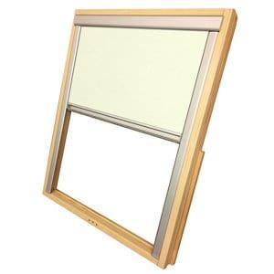 Beige Blackout Roller Roof window blind (W)55cm (L)78cm