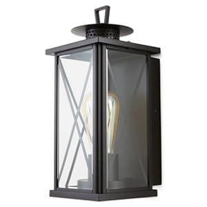 Blooma Belleterre Matt Black Mains-powered Halogen Outdoor Wall light