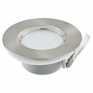 Blooma Boze Brushed Silver effect Mains-powered Neutral white LED Wall light