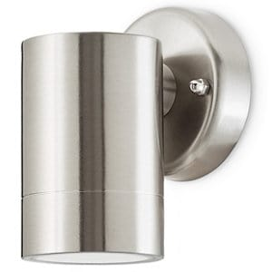 Blooma Candiac Silver effect Mains-powered LED Outdoor Down fixed Wall light 380lm