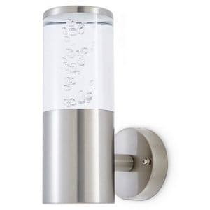 Blooma Hoona Brushed Silver effect Mains-powered LED Outdoor Wall light 277lm