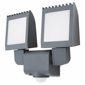 Blooma Parksville Matt Charcoal grey LED PIR Motion sensor Outdoor Wall light