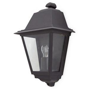 Blooma Sagwon Matt Black Mains-powered Halogen Outdoor Lantern Wall light