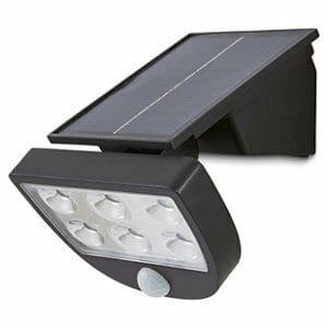 Blooma Summerside Matt Black Solar-powered LED Motion sensor Outdoor Wall light
