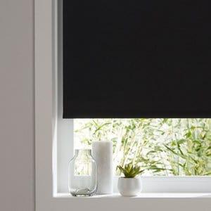 Boreas Corded Black Plain Blackout Roller Blind (W)60cm (L)180cm