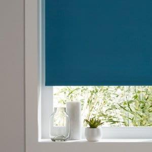 Boreas Corded Blue Plain Blackout Roller Blind (W)90cm (L)180cm