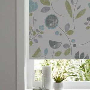 Boreas Corded Green & white Floral Blackout Roller Blind (W)160cm (L)195cm