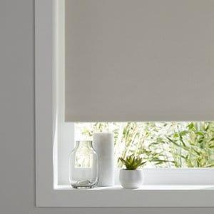 Boreas Corded Ivory Plain Blackout Roller Blind (W)60cm (L)180cm